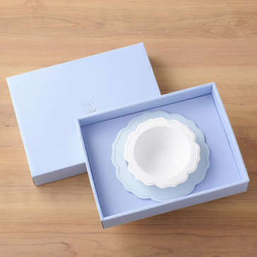 Reale 2 Peaces Set / Bowl, Blue Plate / with box