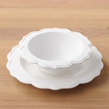 Reale 2 Peaces Set / Bowl, White Plate