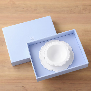 Reale 2 Peaces Set / Bowl, White Plate / with box