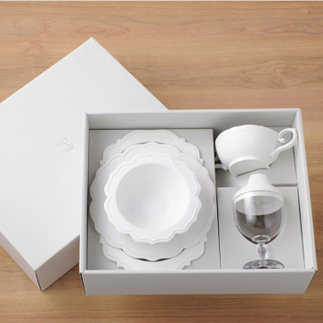 Reale  dinnerware set/ 5 items / Pale White