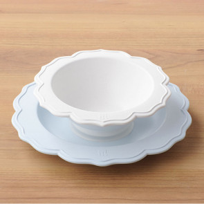 Reale 2 Peaces Set / Bowl, Blue Plate No Box