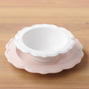 Reale 2 Peaces Set / Bowl, Pink Plate No Box