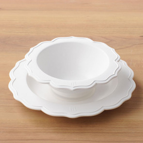 Reale 2 Peaces Set / Bowl, White Plate No Box