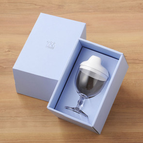 Reale  Sippy Wine Cup / Sommelier/ Pale White / with box